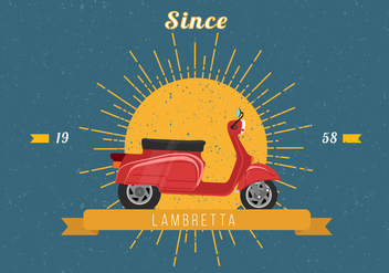 Vintage Lambretta Vector Illustration - бесплатный vector #435591