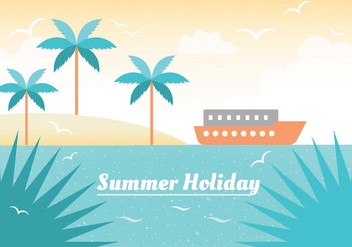 Free Summer Vacation Vector Illustration - Free vector #435711