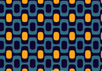 Blue And Orange Copacabana Seamless Pattern Vector - Free vector #435741