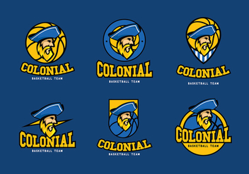 Colonial Basketball Logo Free Vector - бесплатный vector #435751