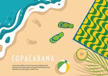 Copacabana Beach Background Vector - Free vector #435771
