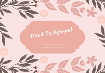 Vector Pink Floral Background - бесплатный vector #435781