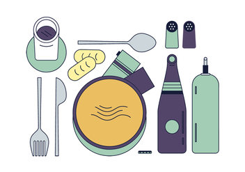 Free Dinner Vector - Free vector #435811