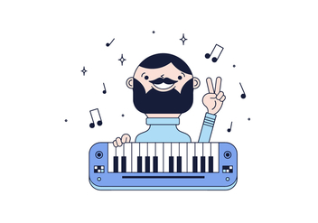 Free Pianist Vector - Free vector #435831