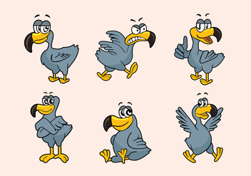 Dodo Cartoon Character Pose Vector Illustration - бесплатный vector #435891