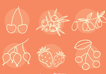 Berries Collection Sketch Vectors - Kostenloses vector #435901