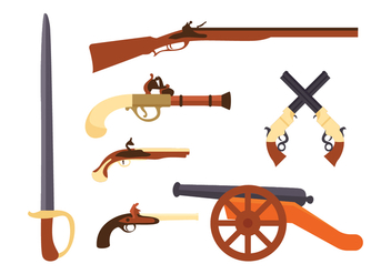 Colonian Weapon Vector Pack - Free vector #435931