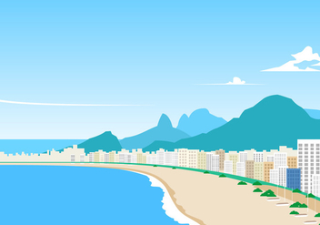 Landscape Of Copacabana Free Vector - бесплатный vector #435951
