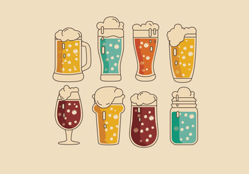 Fizzy Colorful Vector Drinks - vector #435971 gratis