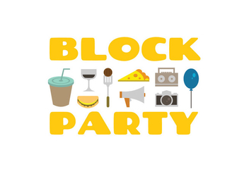 Block party vector icons - vector gratuit #436021