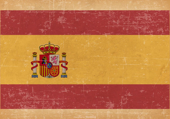 Flag of Spain on Grunge Background - Free vector #436111