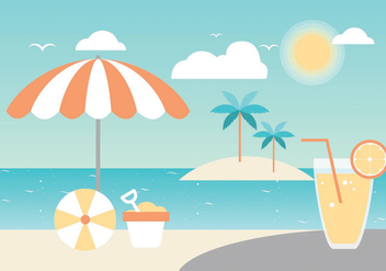 Free Summer Paradise Vector Greeting Card - vector gratuit #436181