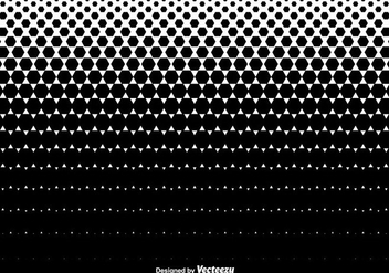 Halftone Hexagons Texture Background - Vector - vector gratuit #436271
