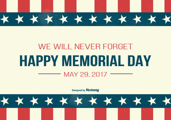 Memorial Day Illustration - vector gratuit #436291