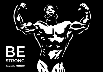 Toned And Ripped Lean Muscle Fitness Body Builder Flexing - vector gratuit #436321