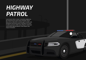 Police Lights Car Free Vector - vector gratuit #436331