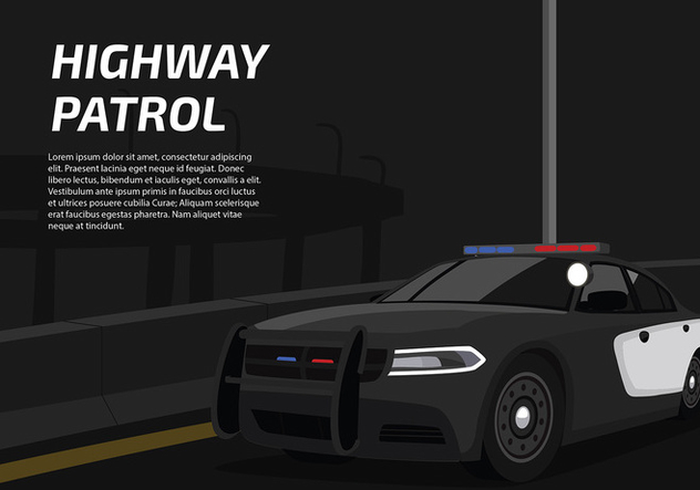 Police Lights Car Free Vector   Free Vector #436331