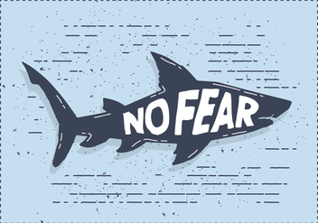 Free Vector Shark Silhouette Illustration With Typography - Free vector #436401