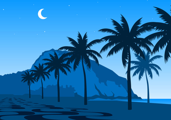 Night Of Copacabana Free Vector - vector gratuit #436411