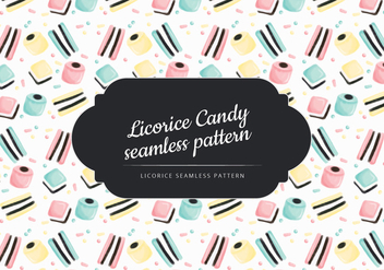 Vector Hand Drawn Liquorice Candy Pattern - Kostenloses vector #436421