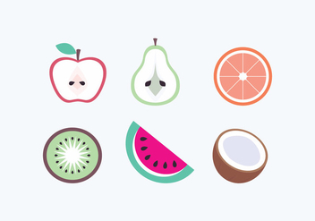 Vector Fruits Icons - бесплатный vector #436431