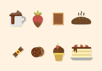 Flat Chocolate Vectors - Free vector #436461