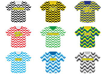 Copacabana Tshirt Collection - Kostenloses vector #436471