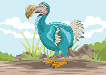 Cute Dodo Bird Illustration - Free vector #436501