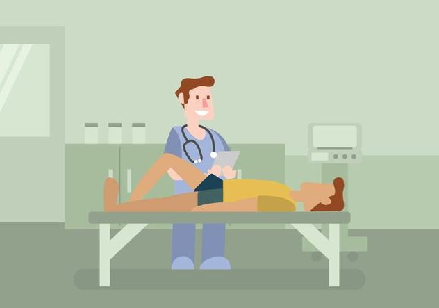 Physiotherapist Illustration - vector gratuit #436711