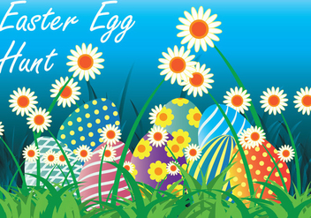 Easter Egg Hunt Vector Illustration - vector gratuit #436721