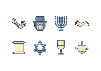 Jewish Icon Set - vector #436741 gratis
