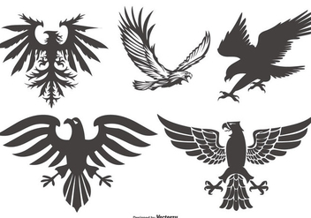 Vinatge Eagle Shapes Collection - Free vector #436771