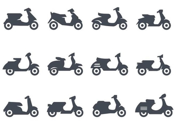Free Scooter Icons Vector - Free vector #436791