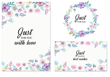 Free Vector Wedding Invitation With Watercolor Flowers - бесплатный vector #436811