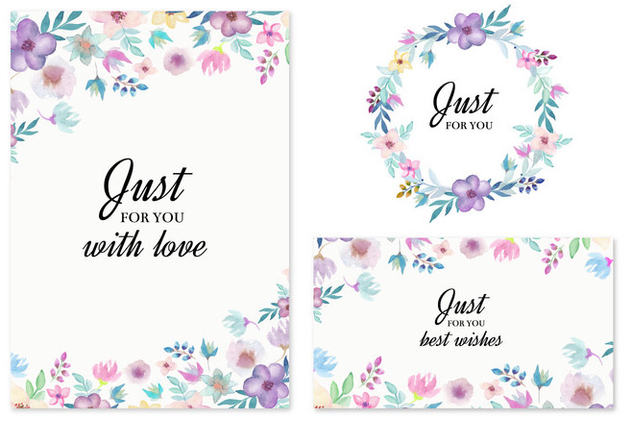 Free Vector Wedding Invitation With Watercolor Flowers - Kostenloses vector #436811