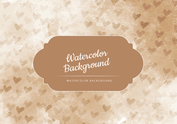 Vector Tan with Tiny Hearts Watercolor Background - Kostenloses vector #436821