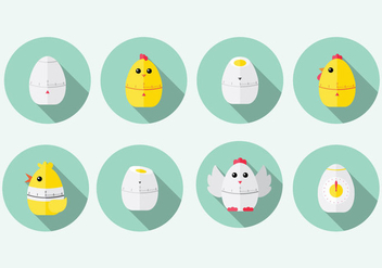 Chick Egg Timer Vector - Kostenloses vector #436951