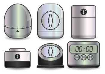 Egg timer realistic illustration set - vector #437041 gratis