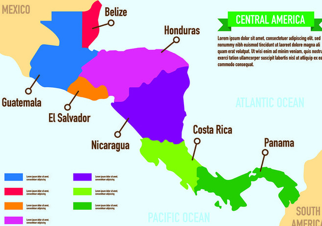 Central America Map Infographic Free Vector Download 437081 | CannyPic