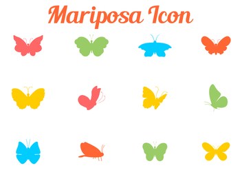Colorful Butterfly Silhouette - Kostenloses vector #437121
