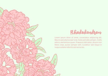 Rhododendron Background - vector gratuit #437151