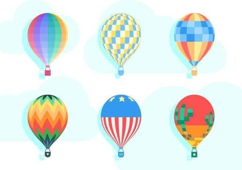 Free Unique Hot Air Balloon Vectors - vector #437161 gratis