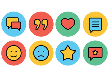 Testimonials and Feedback Icon Set - vector gratuit #437181