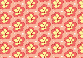 Rhododendron Flower Seamless Pattern Vector - бесплатный vector #437291