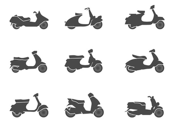 Scooter Icon Vector - бесплатный vector #437301
