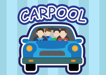 Carpool vector - Free vector #437431