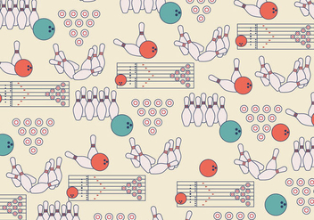 Bowling Lane Pattern Vector - бесплатный vector #437491