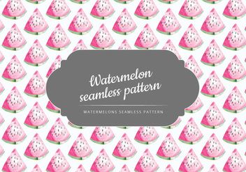 Vector Hand Drawn Watermelon Pattern - Free vector #437511
