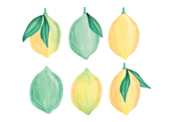 Vector Hand Drawn Lemons Collection - Kostenloses vector #437521