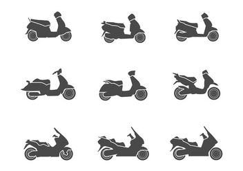 Scooter Icon Vector - бесплатный vector #437611